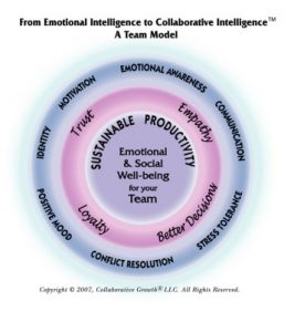 Collaborative intelligence is a result teams and groups profit from when using the seven skills measured by the TESI® (Team Emotional and Social Intelligence Survey®)